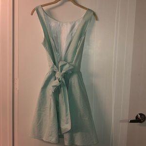 Mint green seersucker Lauren James dress